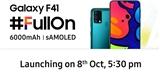 Samsung chystá premiéru řady Galaxy F. Prvotina Galaxy F41 se ukáže 8. října