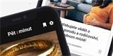 Pět minut. Aplikace doporučí čtenářům obsah vybraný na míru umělou inteligencí
