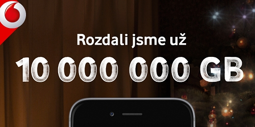 Vánoční nabídky Vodafonu na 100 GB dat zdarma využilo už 100 tisíc lidí d3f7ac90c49