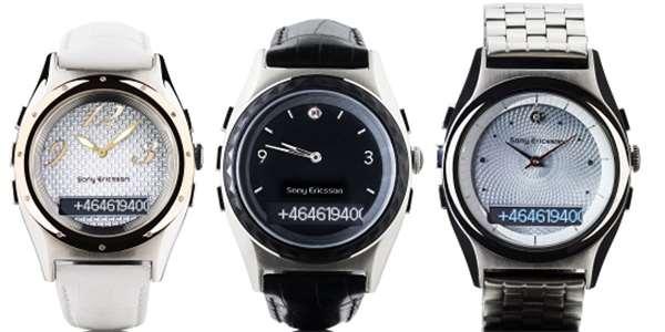 Troje nové hodinky Sony Ericsson  modré zuby na dámská zápěstí ... feb73edf52e