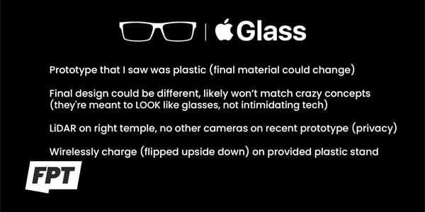 Specifikace Apple Glass podle Jona Prossera