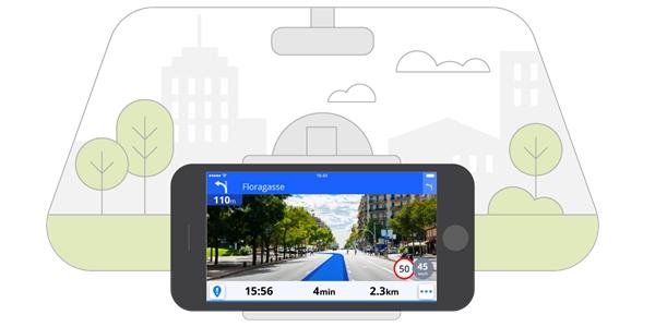 Sygic používá v aplikaci pro GPS navigaci rozšířenou realitu