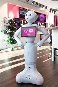 541832611be Robot T-Mobilu se naučil česky. Můžete si s ním zajít pokecat do pražské