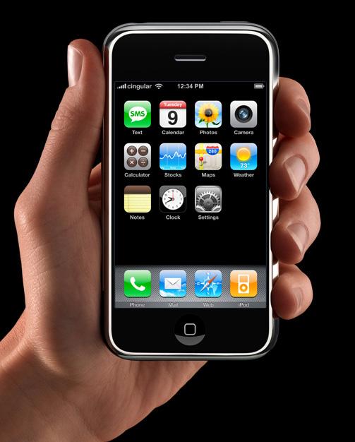 Hlavní menu Apple iPhone