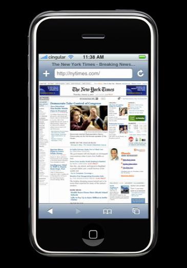 webový prohlížeč iPhone