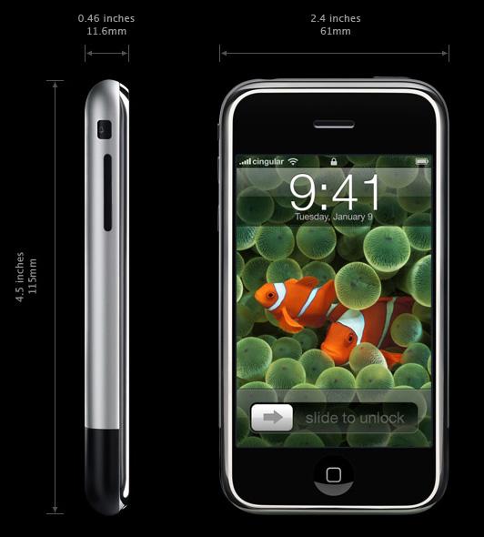 rozměry iPhonu